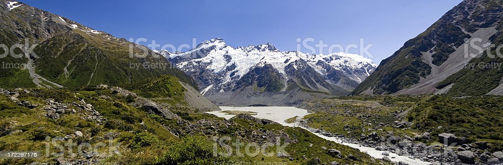 Mt. Cook from the Hooker Valley, New Zealand royalty-free stock photo