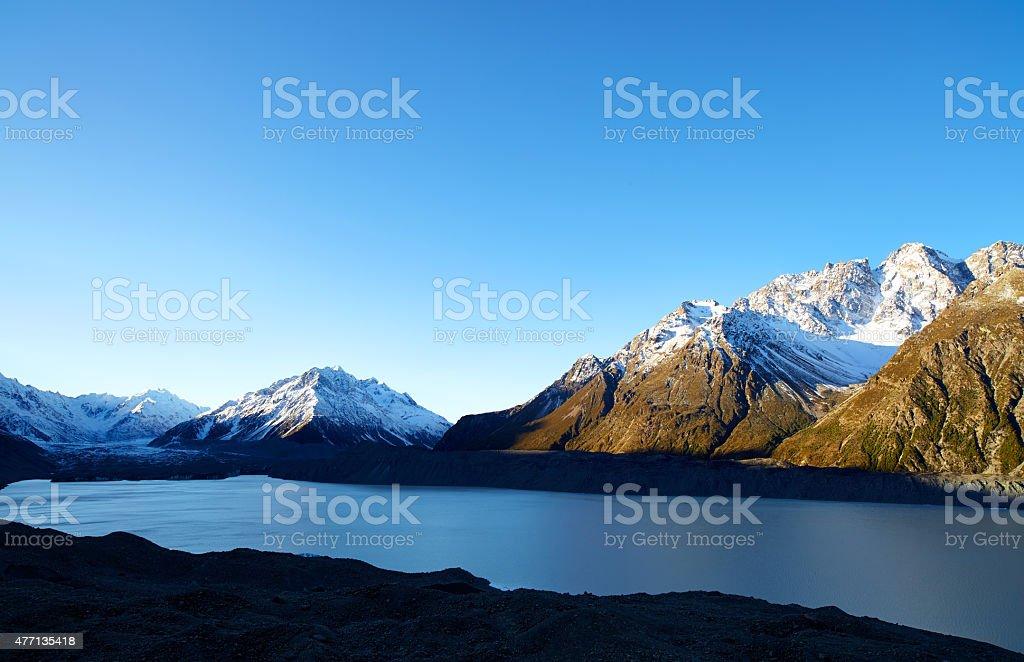 Mt Cook National Park Glacial Lake stock photo