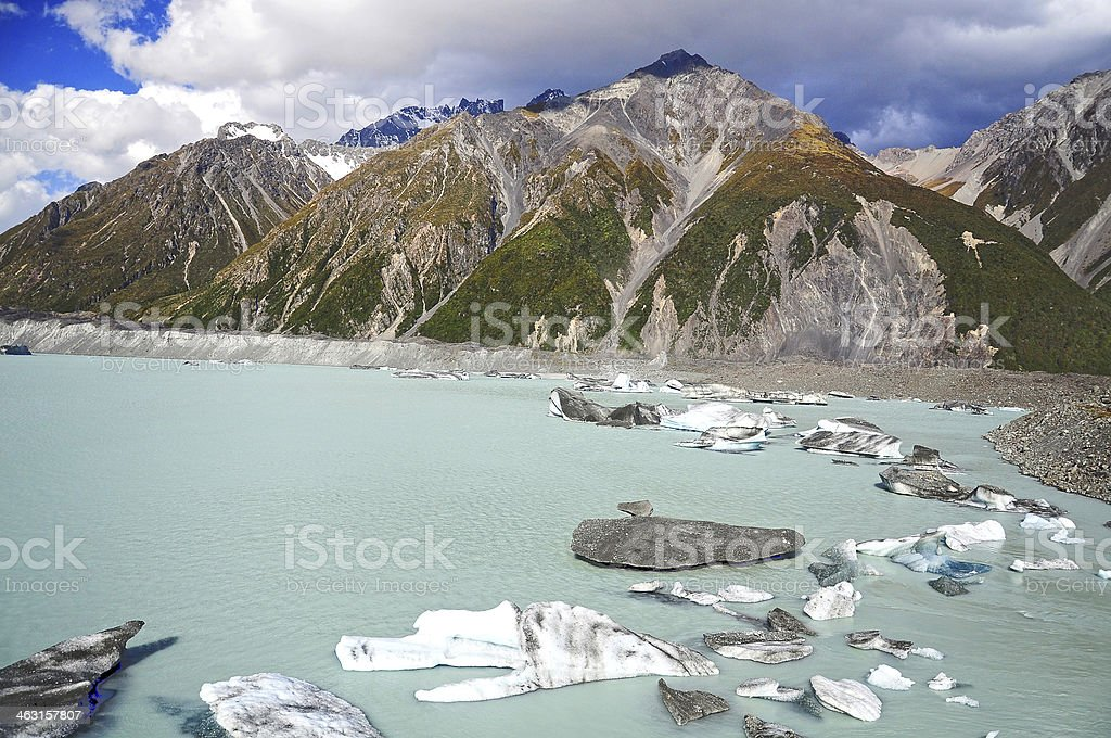 Mt. Cook National Park, New Zealand stock photo