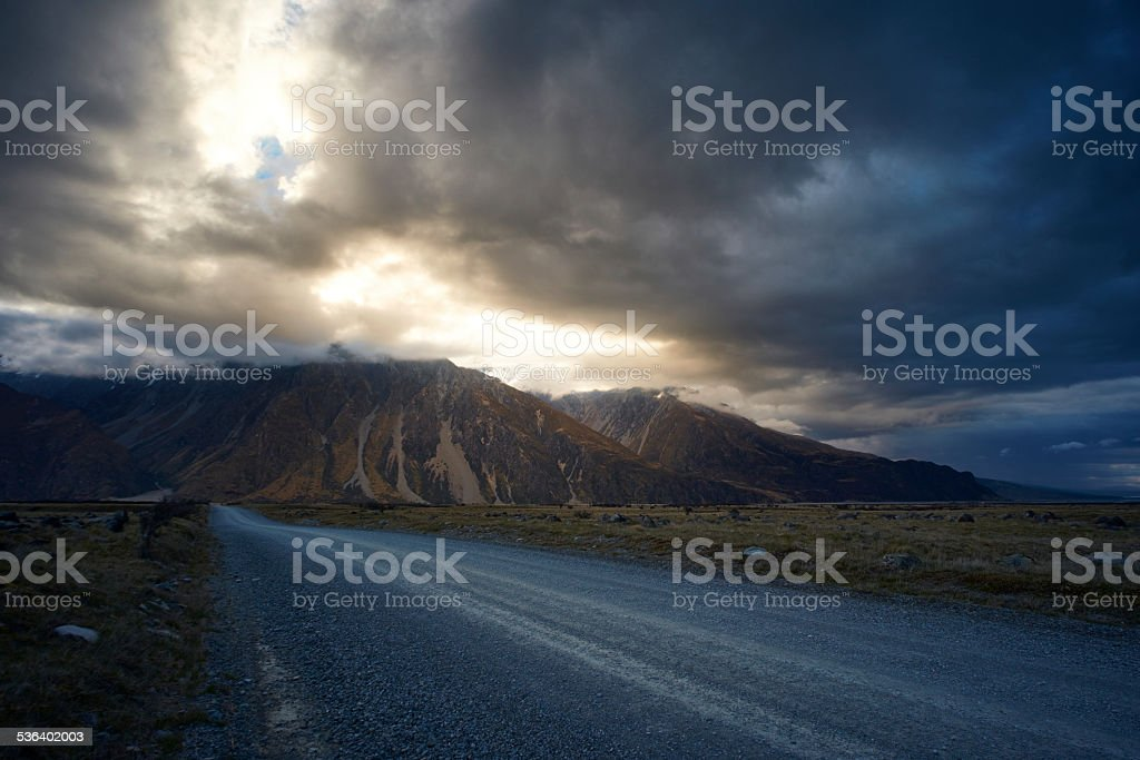 Mt Cook National Park stock photo