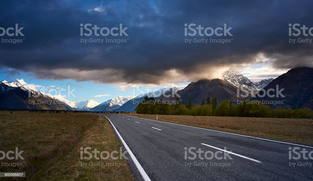 Mt Cook National Park Scenic royalty-free stock photo