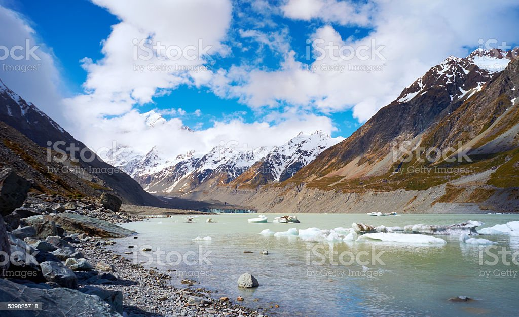 Mt Cook National Park Scenic stock photo