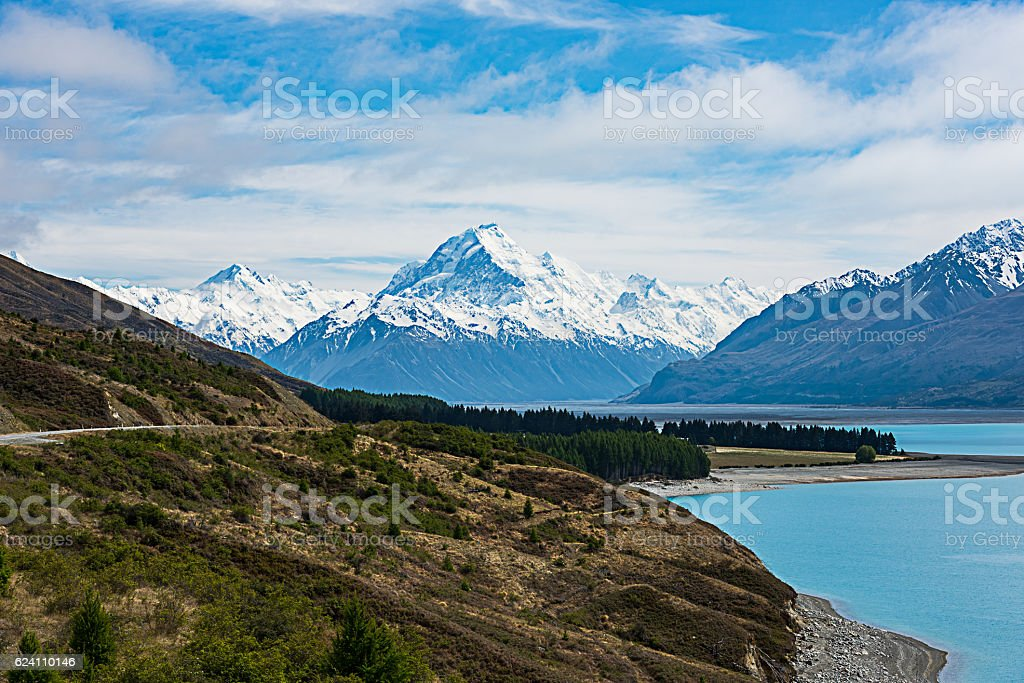 Mt Cook New Zealand stock photo