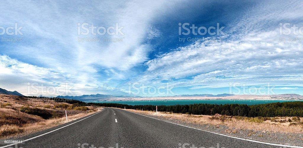 Mt. Cook Road stock photo