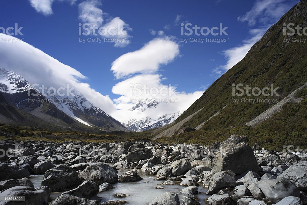 Mt Cook & The Hooker Valley stock photo