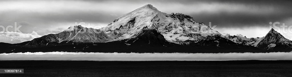 Mt. Drum Floats on a Ribbon of Cloud royalty-free stock photo