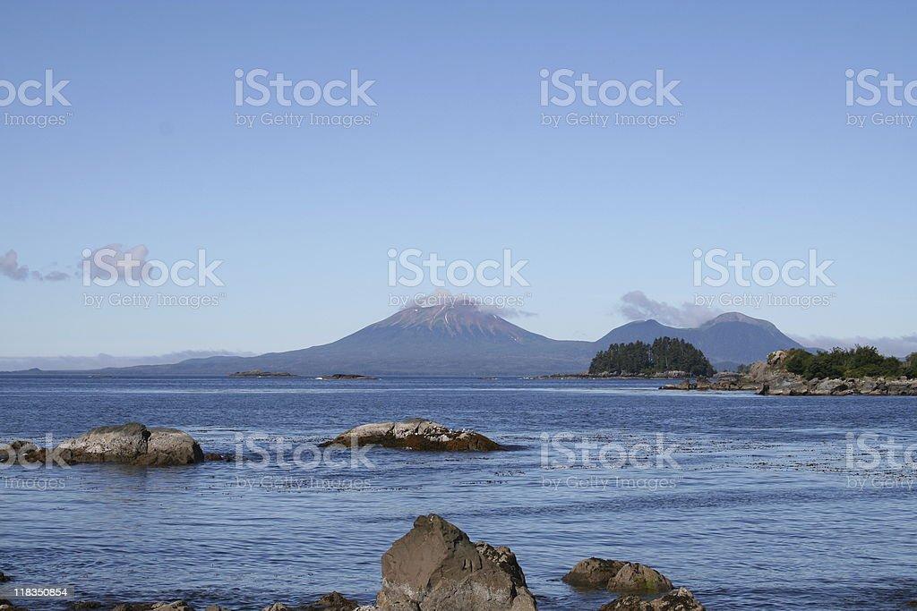 Mt. Edgecumbe Volcano Landscape stock photo