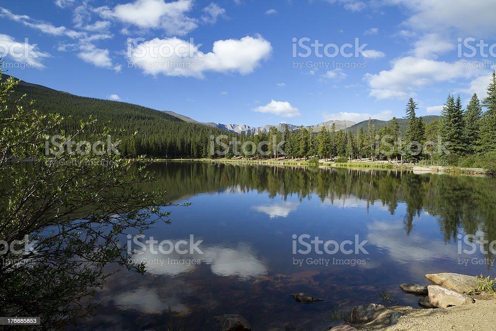 Mt Evans CO Echo Lake stock photo