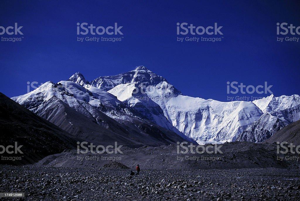Mt. Everest Blue royalty-free stock photo