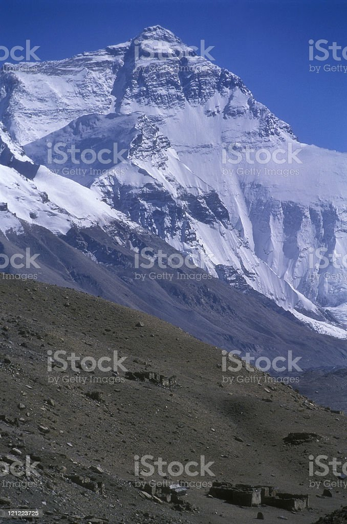 Mt. Everest from Tibet royalty-free stock photo