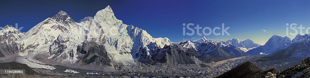 Mt Everest stock photo