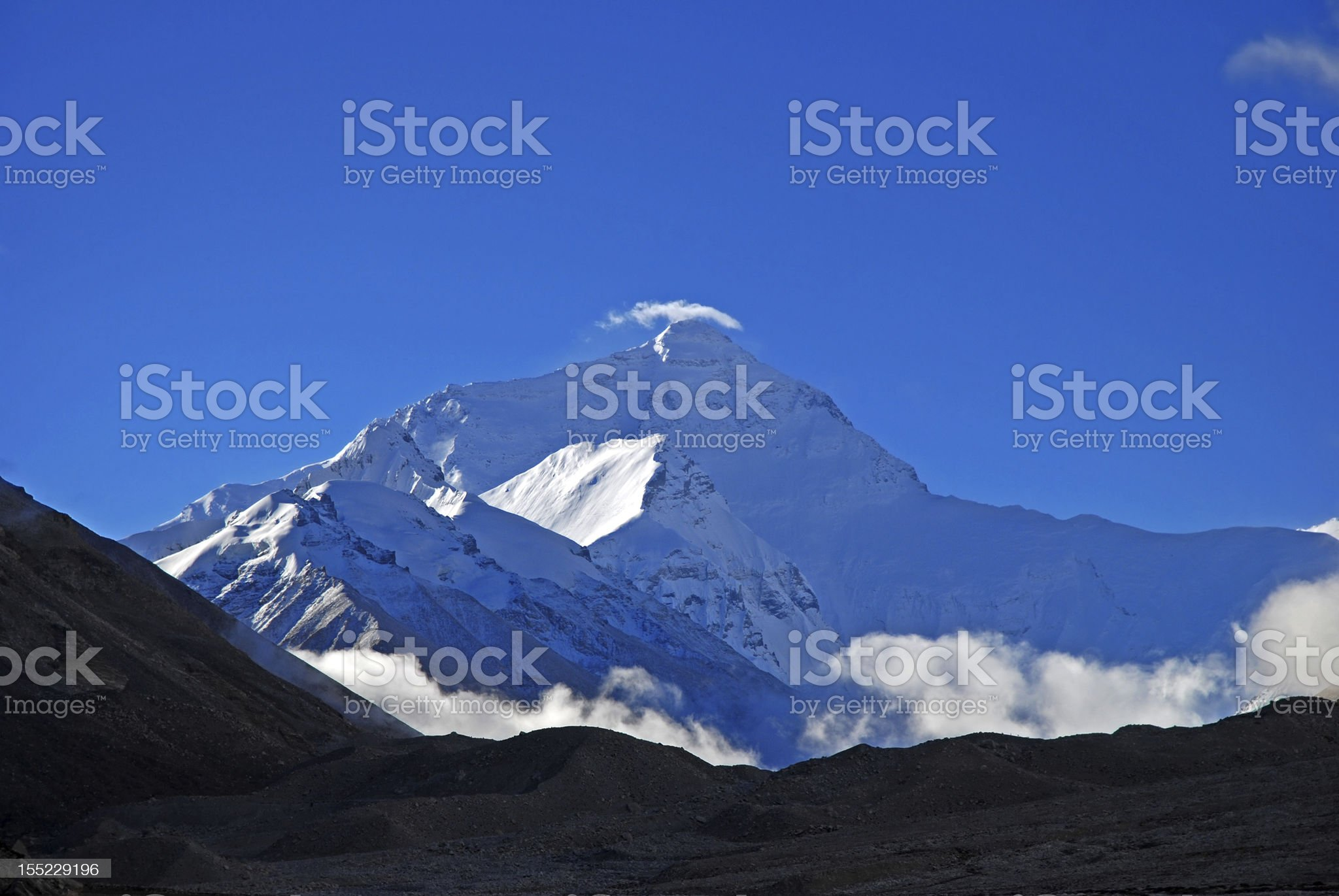 Mt. Everest royalty-free stock photo
