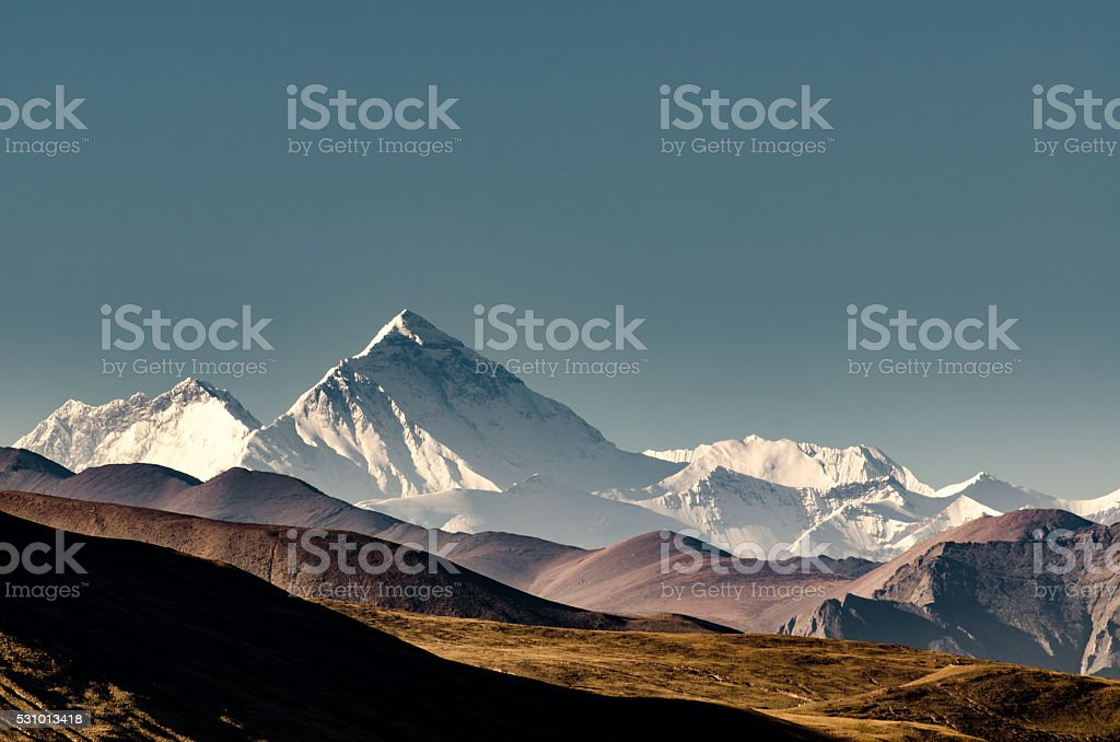 Mt. Everest, Tibet stock photo
