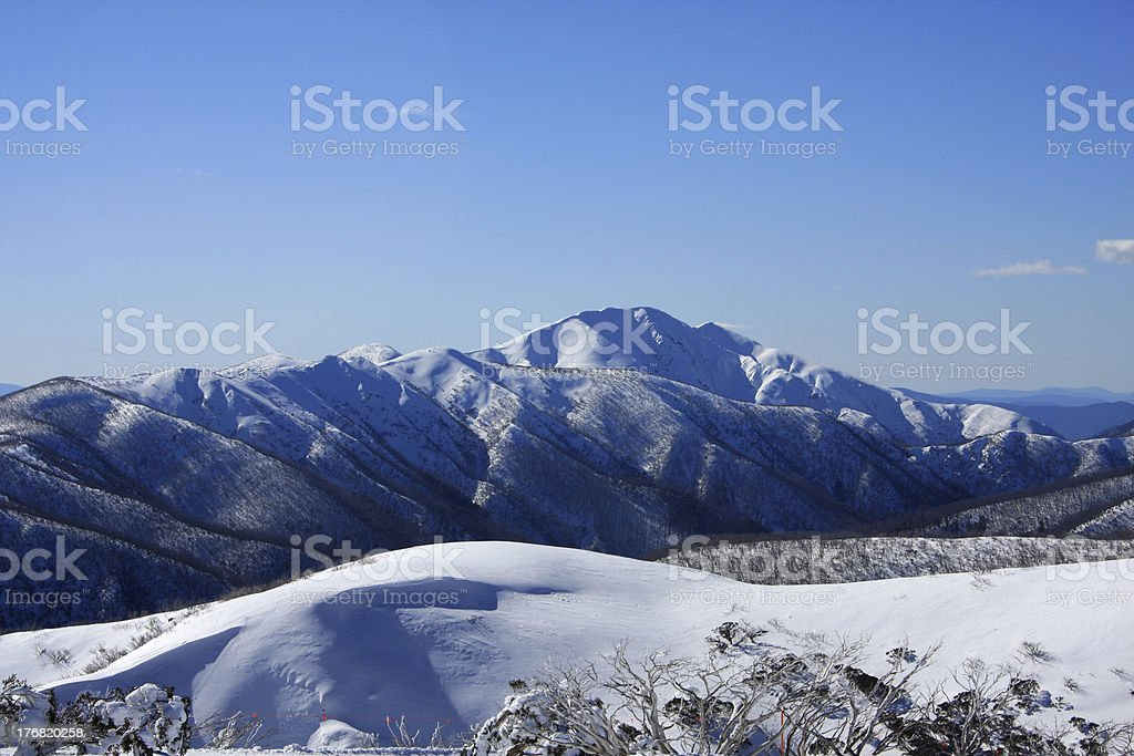 Mt Feathertop and the Razorback stock photo