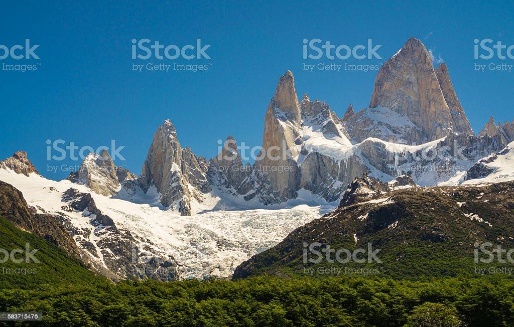 Mt. Fitz Roy in El Chalten, Argentina stock photo