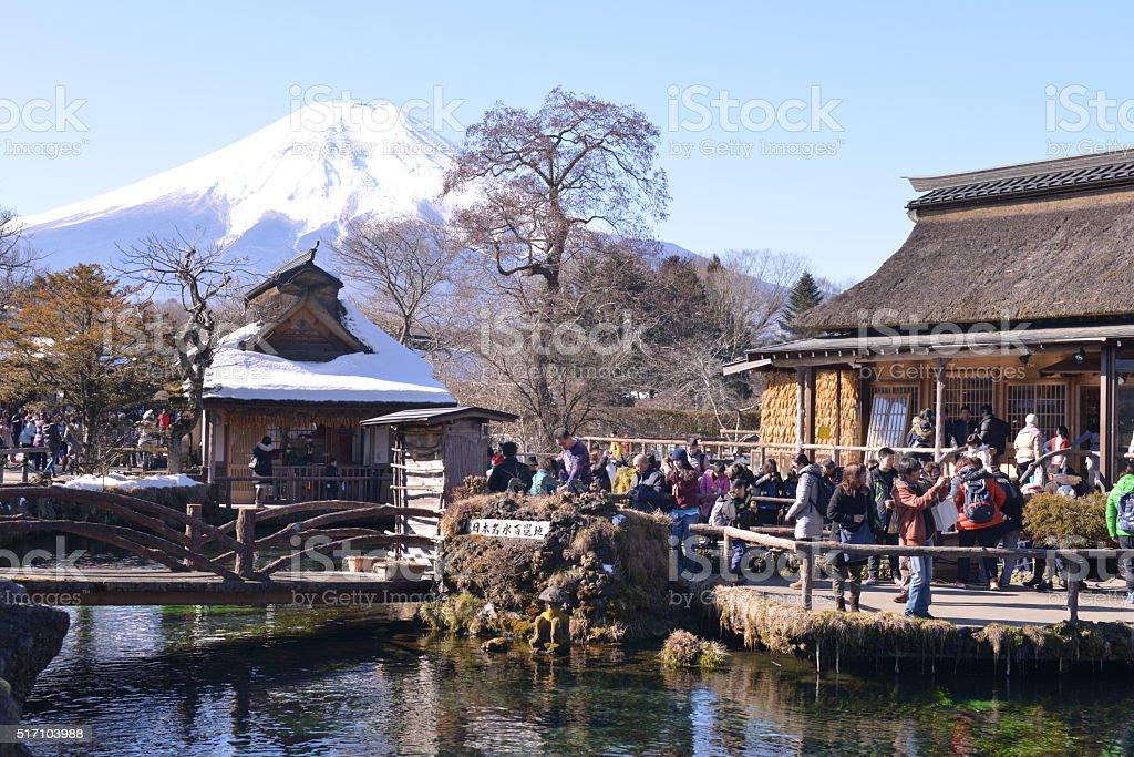 Mt Fuji and Oshino Hakkai, Japan stock photo