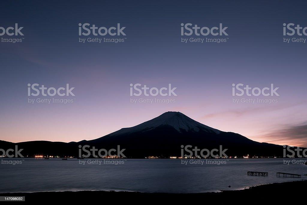 Mt. Fuji at night royalty-free stock photo