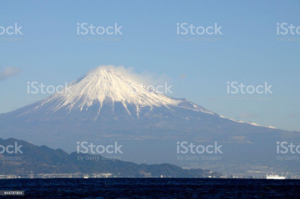 Mt. Fuji from Miho stock photo