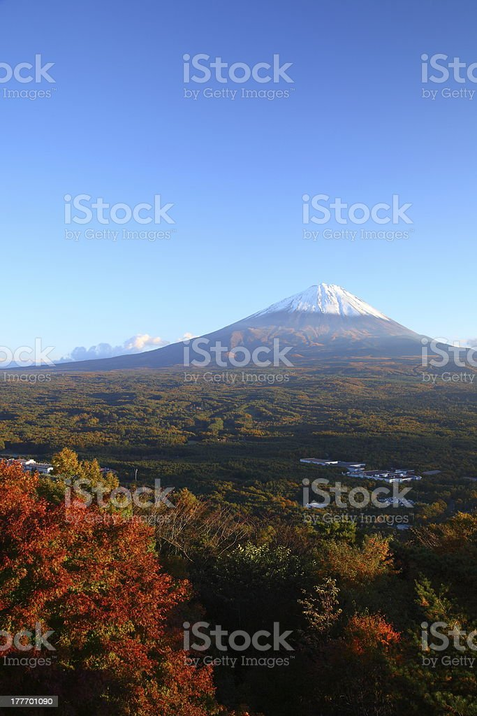Mt. Fuji in autumn stock photo