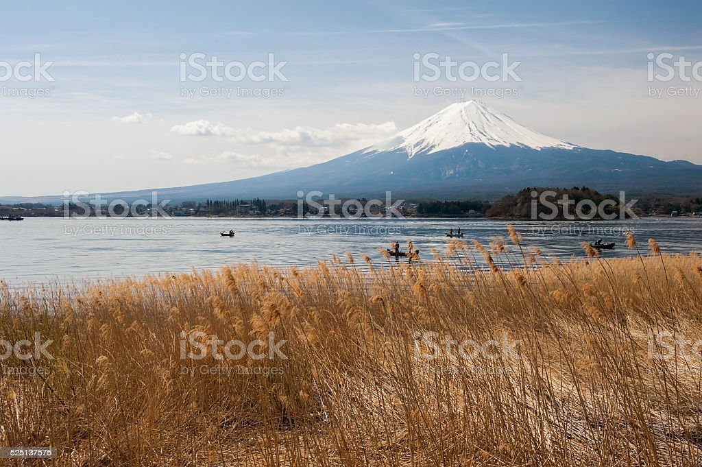 Mt Fuji in the early morning stock photo