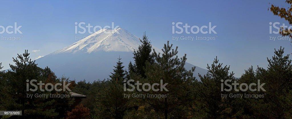 Mt. Fuji Panorama stock photo