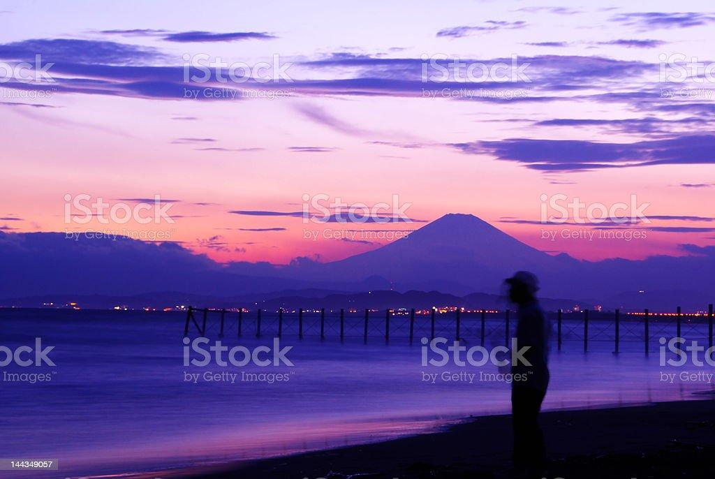 Mt Fuji royalty-free stock photo