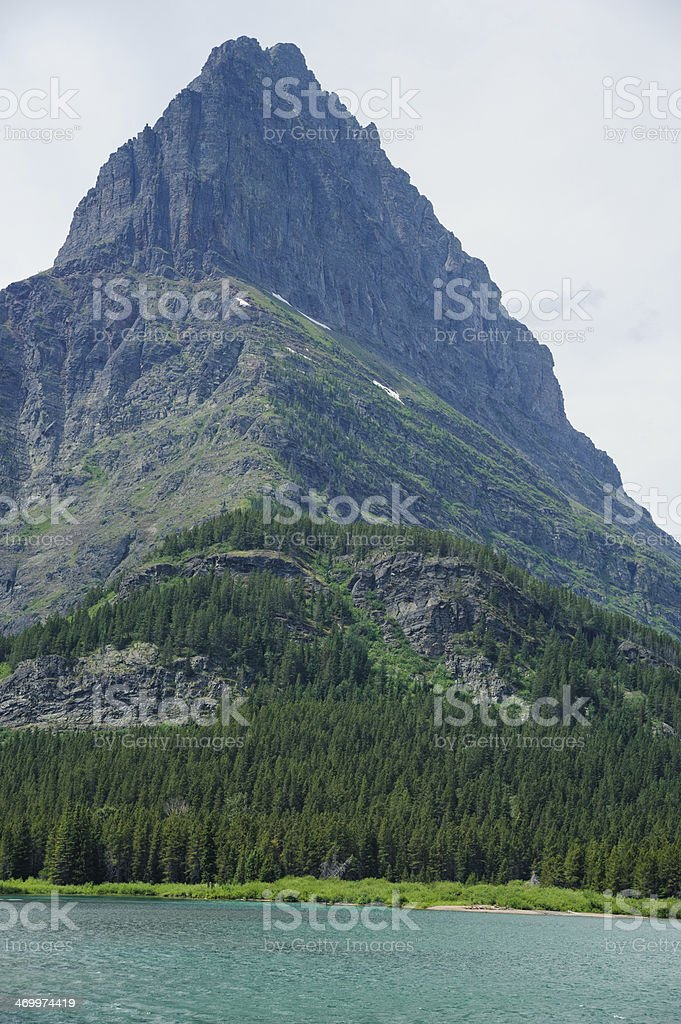 Mt. Grinnell in Glacier National Park stock photo
