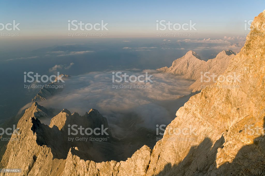 mt. hohe riffel royalty-free stock photo