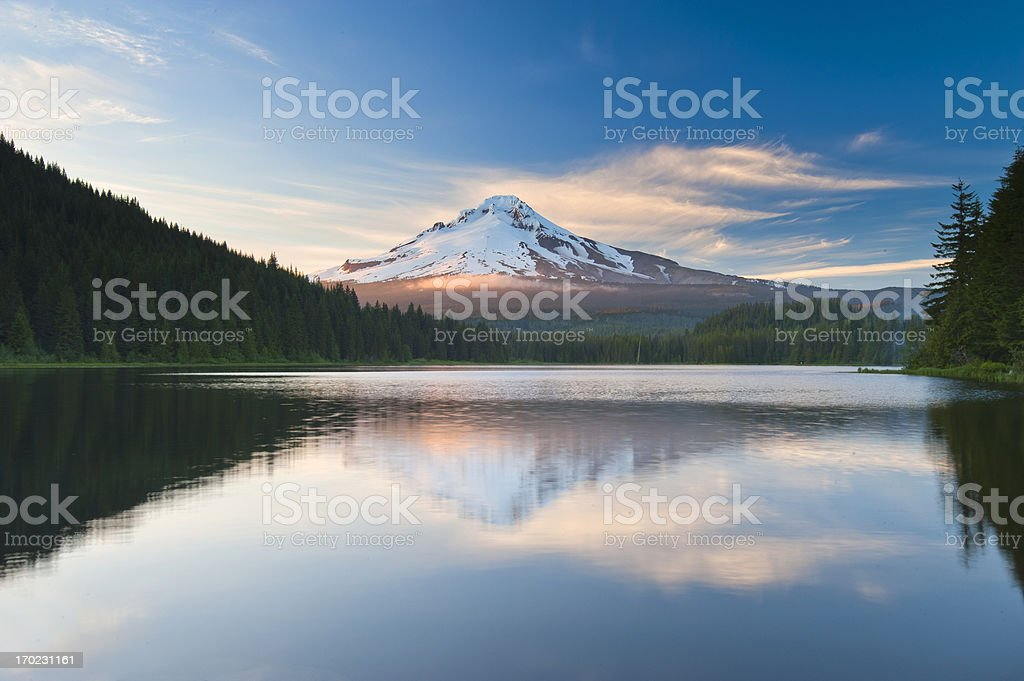 Mt Hood at Sunset stock photo