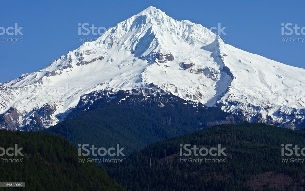 Mt. Hood Emerald Ice stock photo