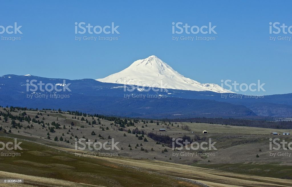 Mt. Hood High Ice stock photo