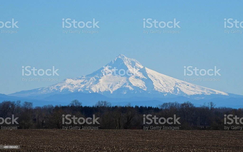 Mt. Hood Ice stock photo