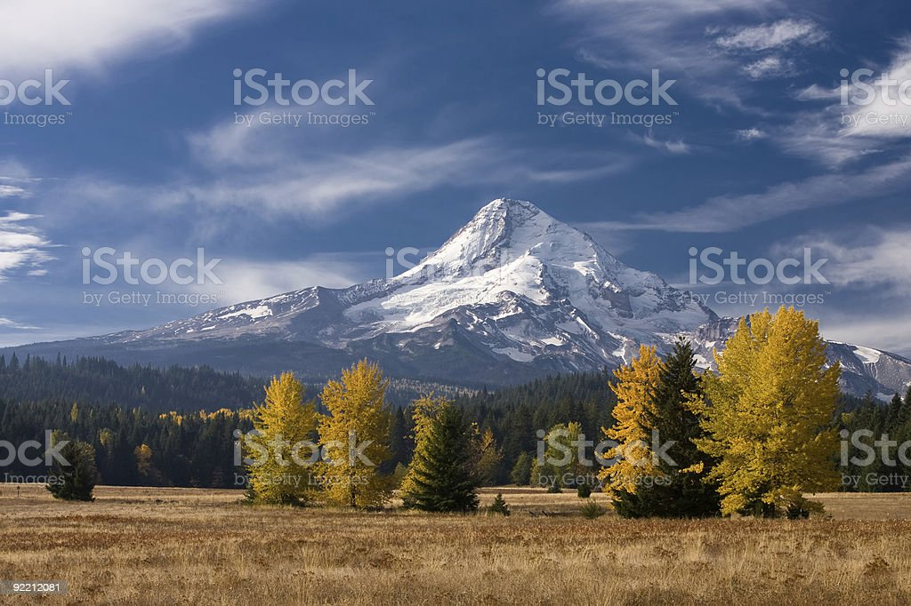 Mt. Hood in the fall. stock photo