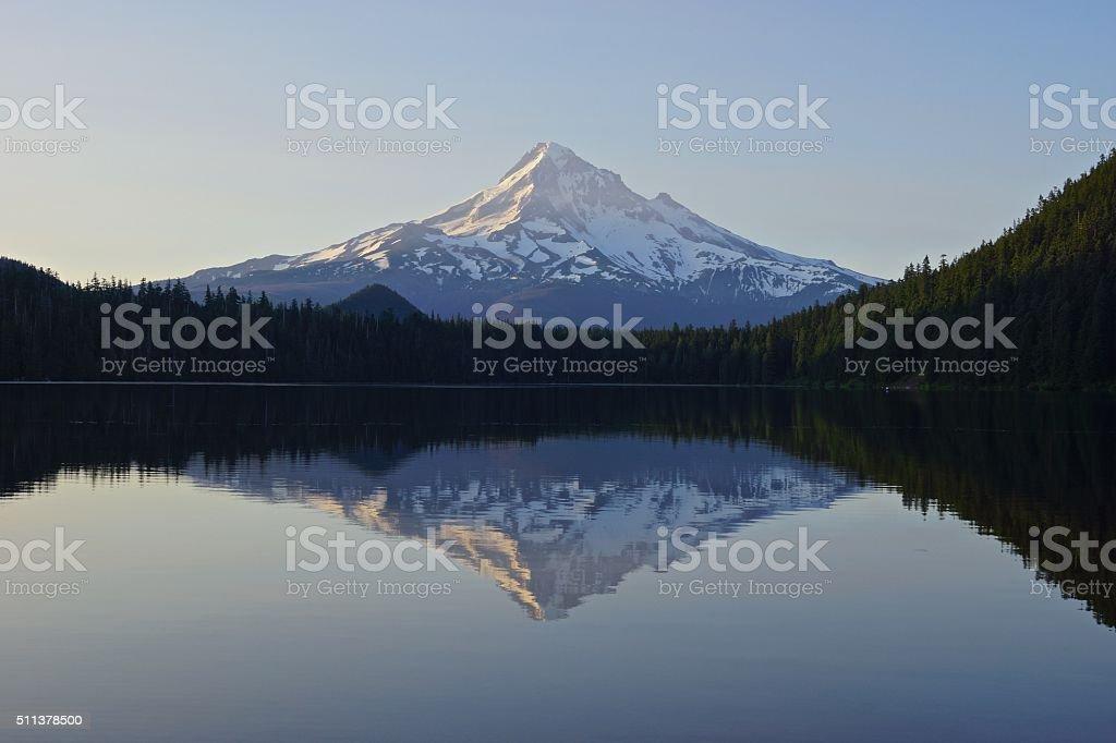 Mt. Hood Lake stock photo