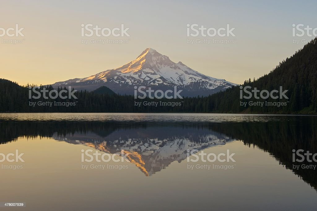 Mt. Hood Mirror stock photo