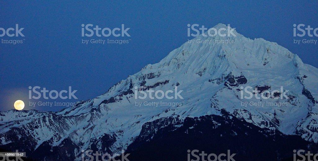 Mt. Hood Moon Ball stock photo