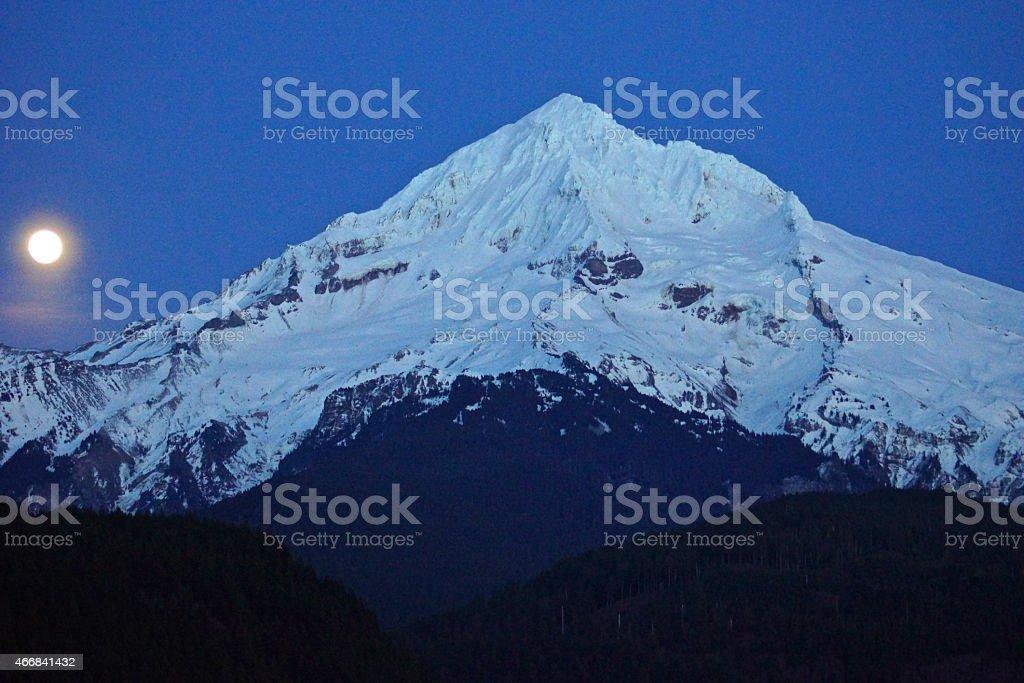 Mt. Hood Moonrise stock photo