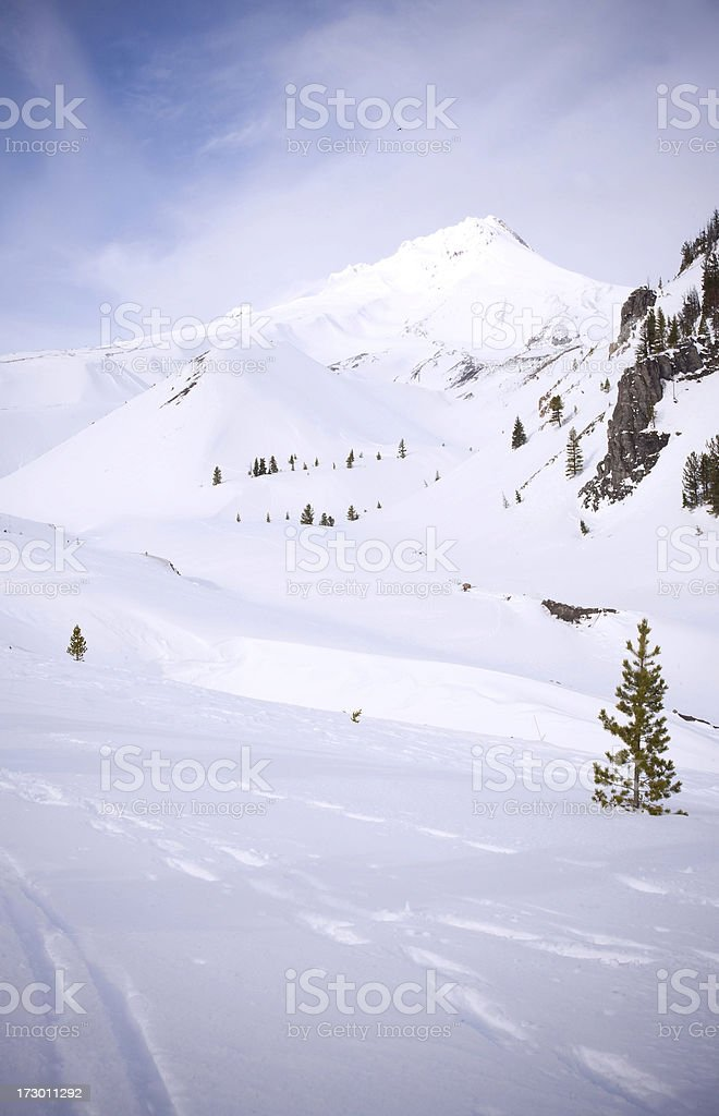 Mt Hood, Oregon, covered in snow royalty-free stock photo