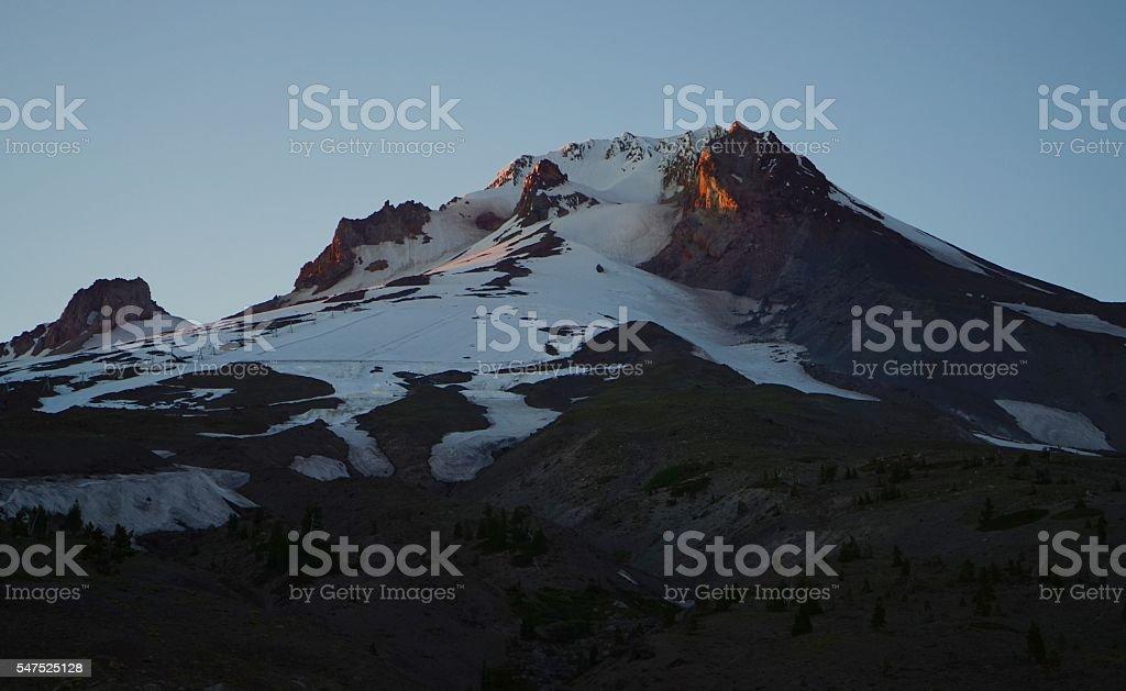 Mt. Hood Sunset stock photo