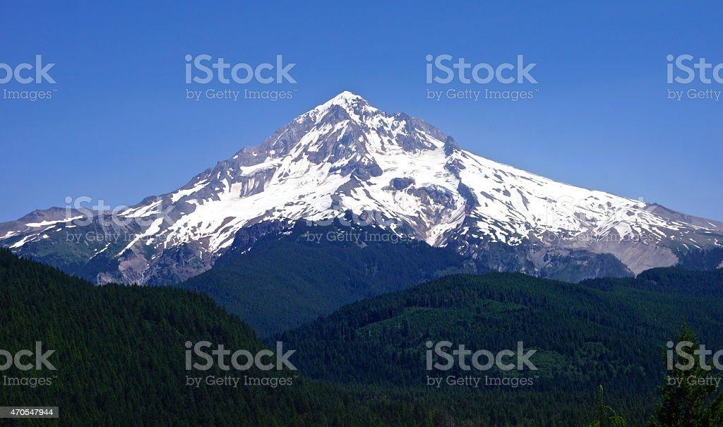Mt. Hood Trinity stock photo