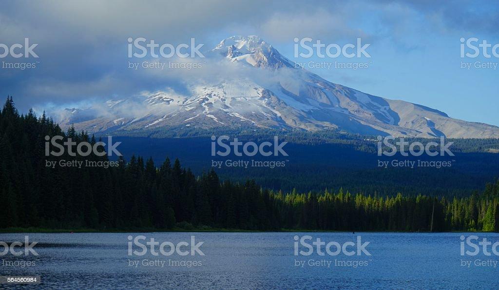 Mt. Hood Volcano stock photo