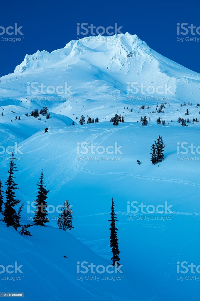 Mt Hood Winter stock photo