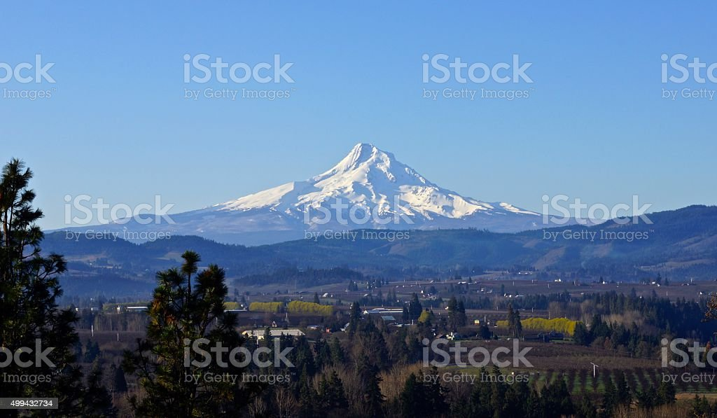 Mt. Hood's Sacred Valley stock photo