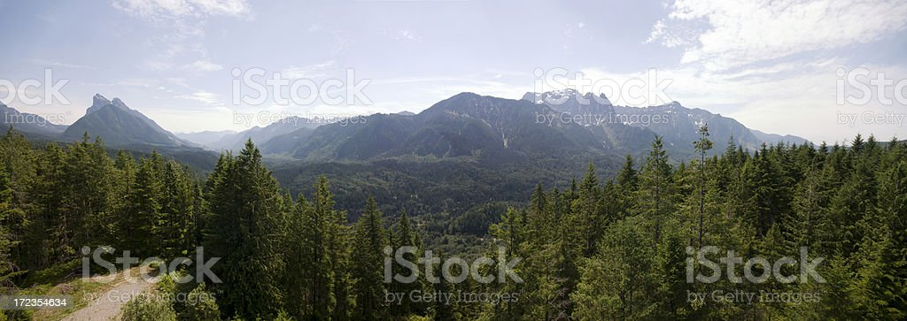 Mt. Index and Skykomish valley stock photo