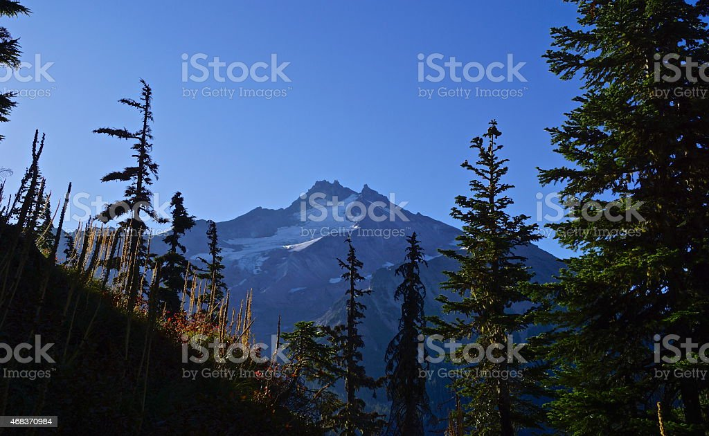 Mt. Jefferson Angle stock photo