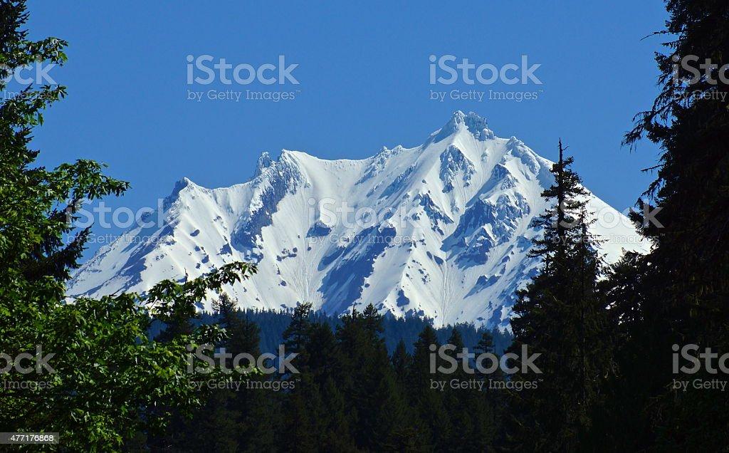 Mt. Jefferson Crags stock photo