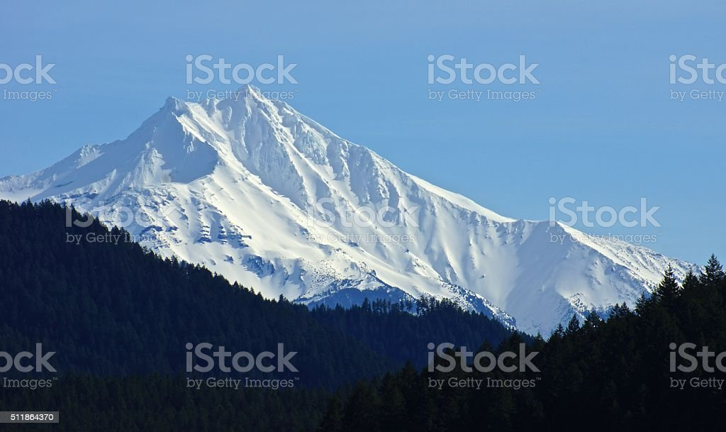 Mt. Jefferson Ice stock photo