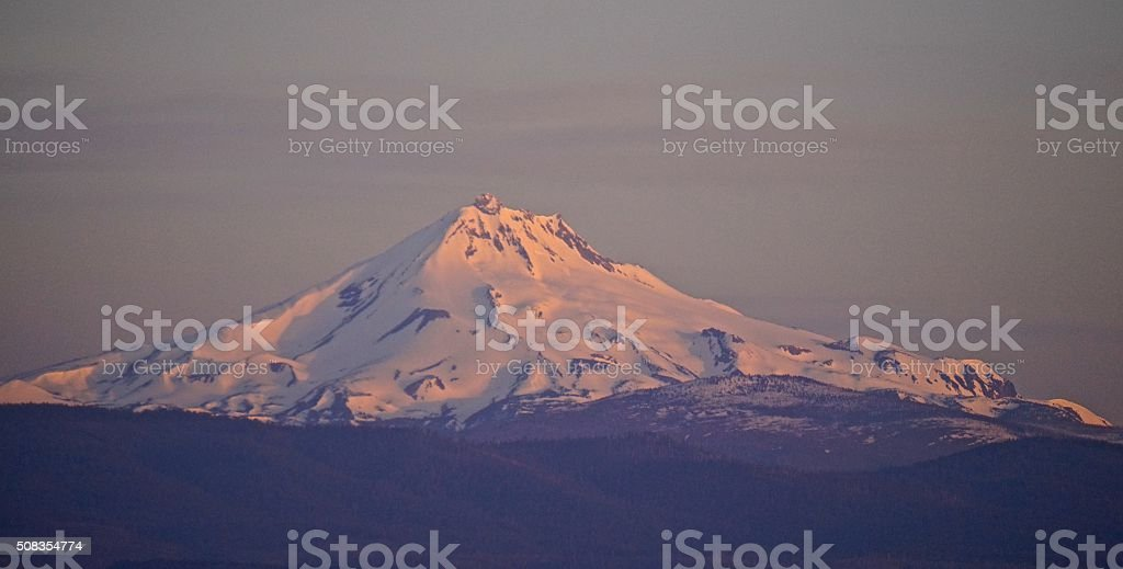 Mt. Jefferson Purple Haze stock photo