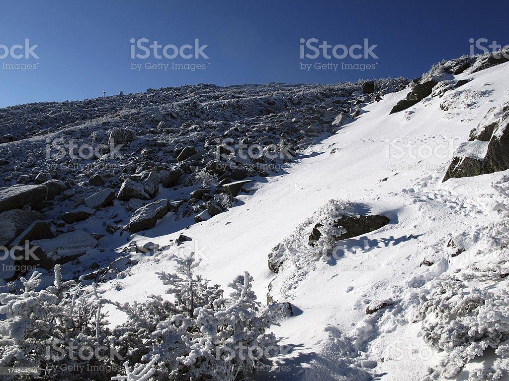 Mt. Jefferson Snow Field stock photo