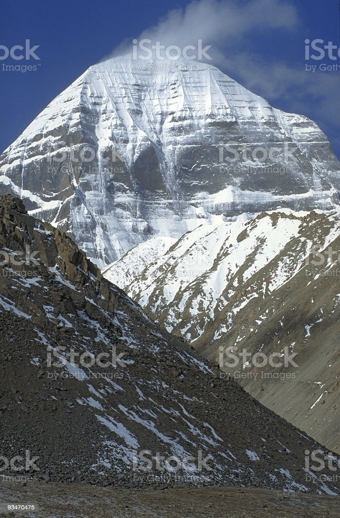 Mt. Kailash, the holy mountain in Western Tibet royalty-free stock photo